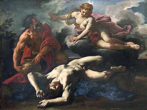Артемида над трупом Ориона